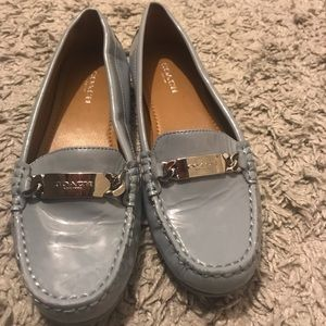 Baby Blue Coach Loafers
